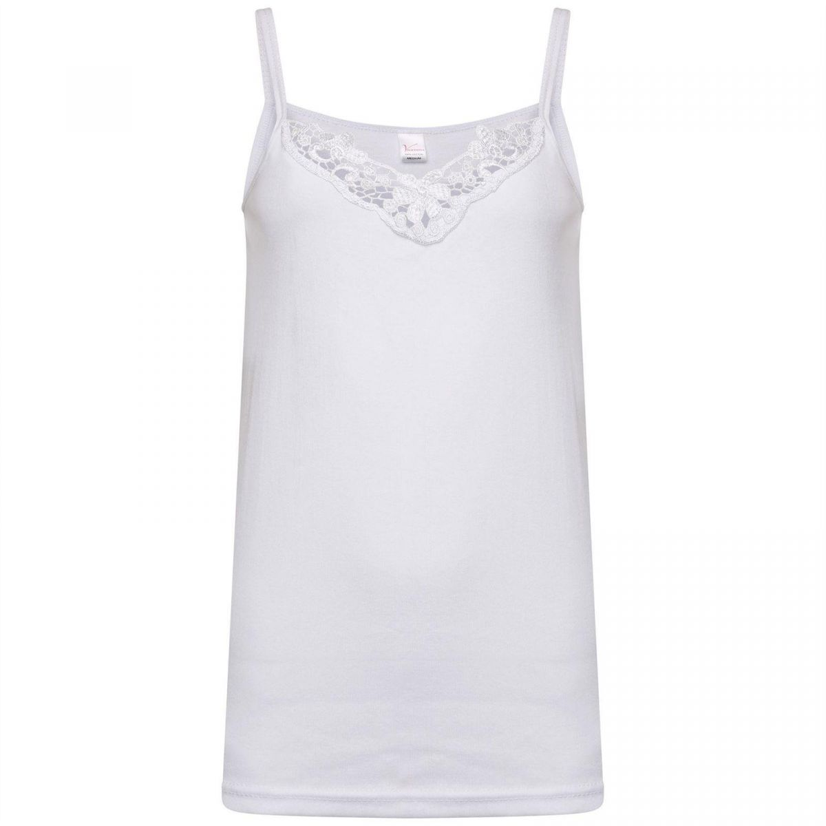 Accessories | Women's 100% Cotton Lace Trim Tank Top