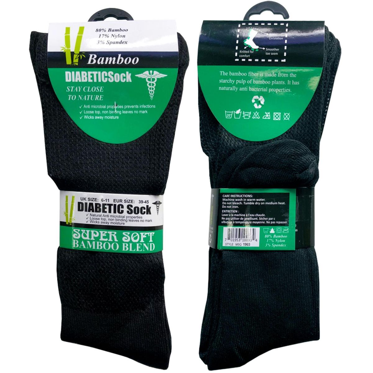 Accessories | Mens Diabetic Extra Wide Bamboo Super Soft Socks