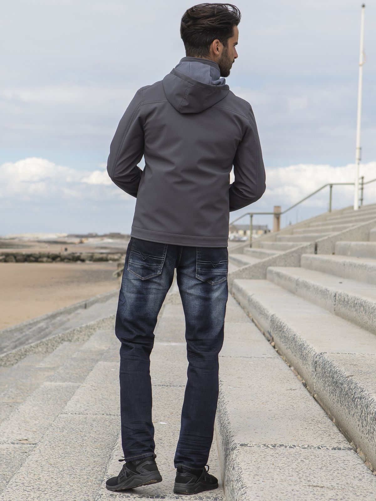 ETO Clearance | Designer Men's Grey Zip Jacket Style React