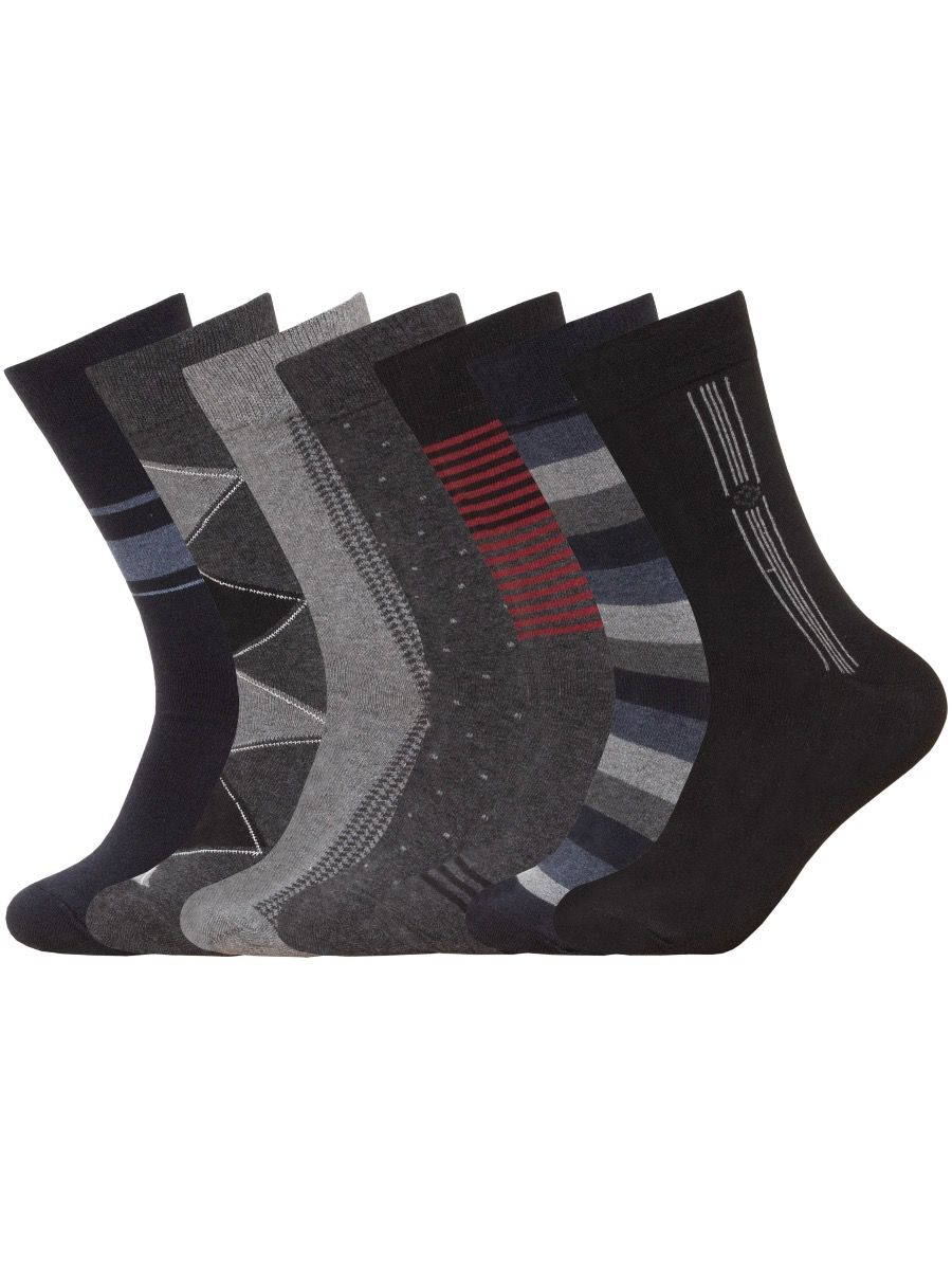 Accessories   7 Pack Mens Socks 7 Days of the Week Casual Smart Work Socks 6 - 11, From £5.49, Guest Brand, in    Raw Denim Outlet
