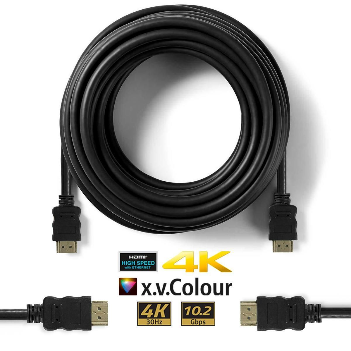 Ultra HD HDMI Cable v2.0 High Speed + Ethernet SKY HDTV 2160p 4K 3D