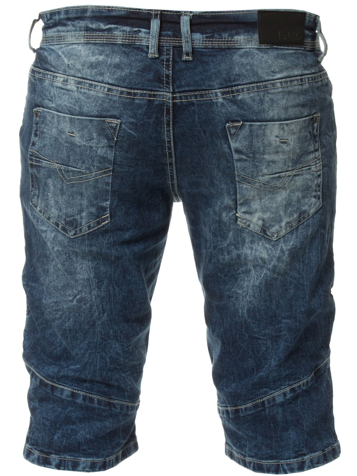 Mens Denim Biker Jeans Summer Shorts | Enzo Designer Menswear