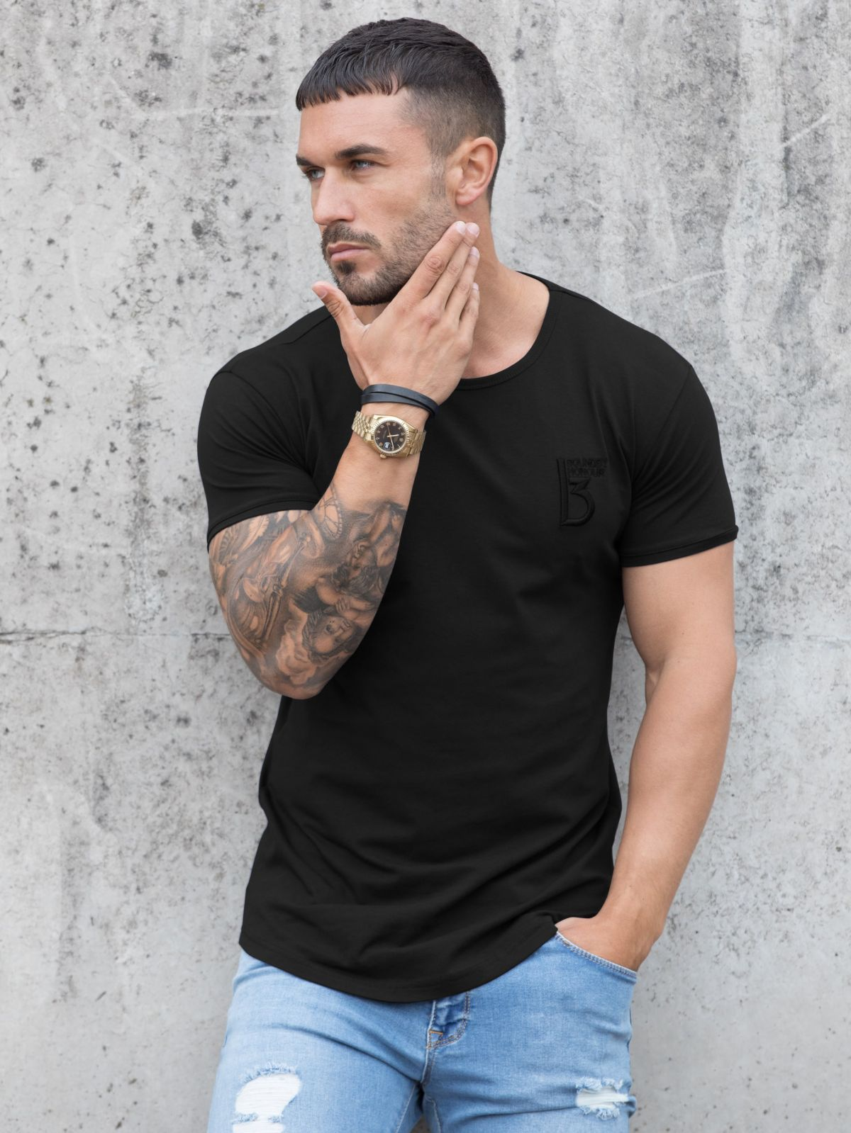 Clearance   BBH Men's Branded Short Sleeve Athletic T-shirt   Bound By Honour