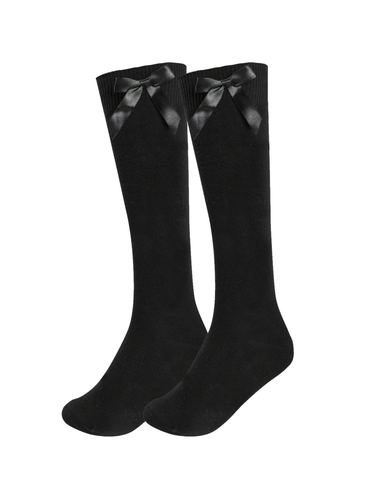 Accessories | Girls Knee High Long School Socks with Satin Bow