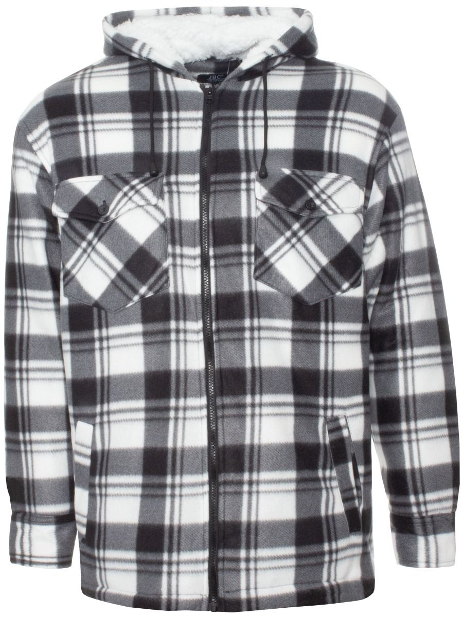 Men's Checked Padded Work Shirt With Hood