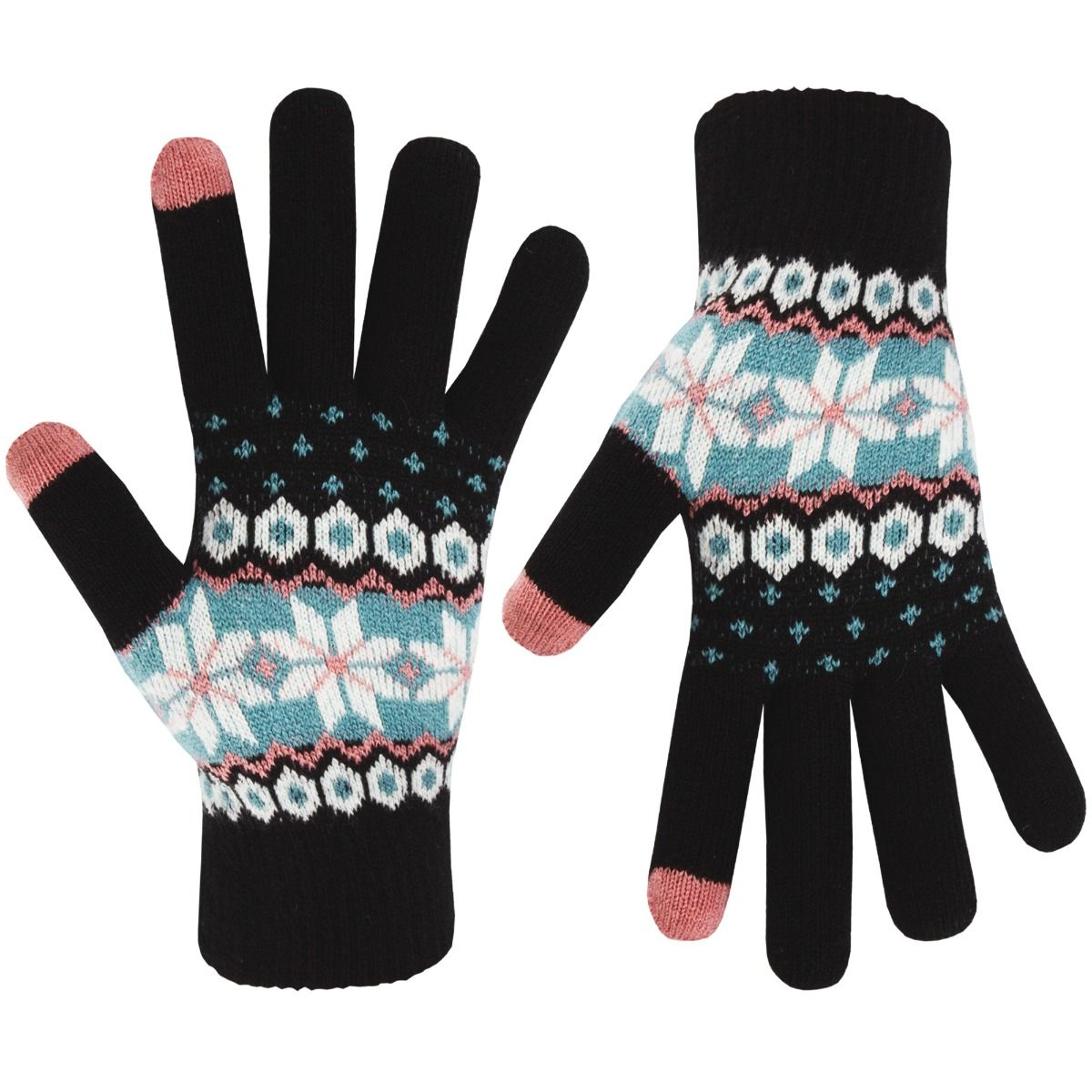 Accessories   Womens Fair Isle  Thermal Winter iTouch Gloves