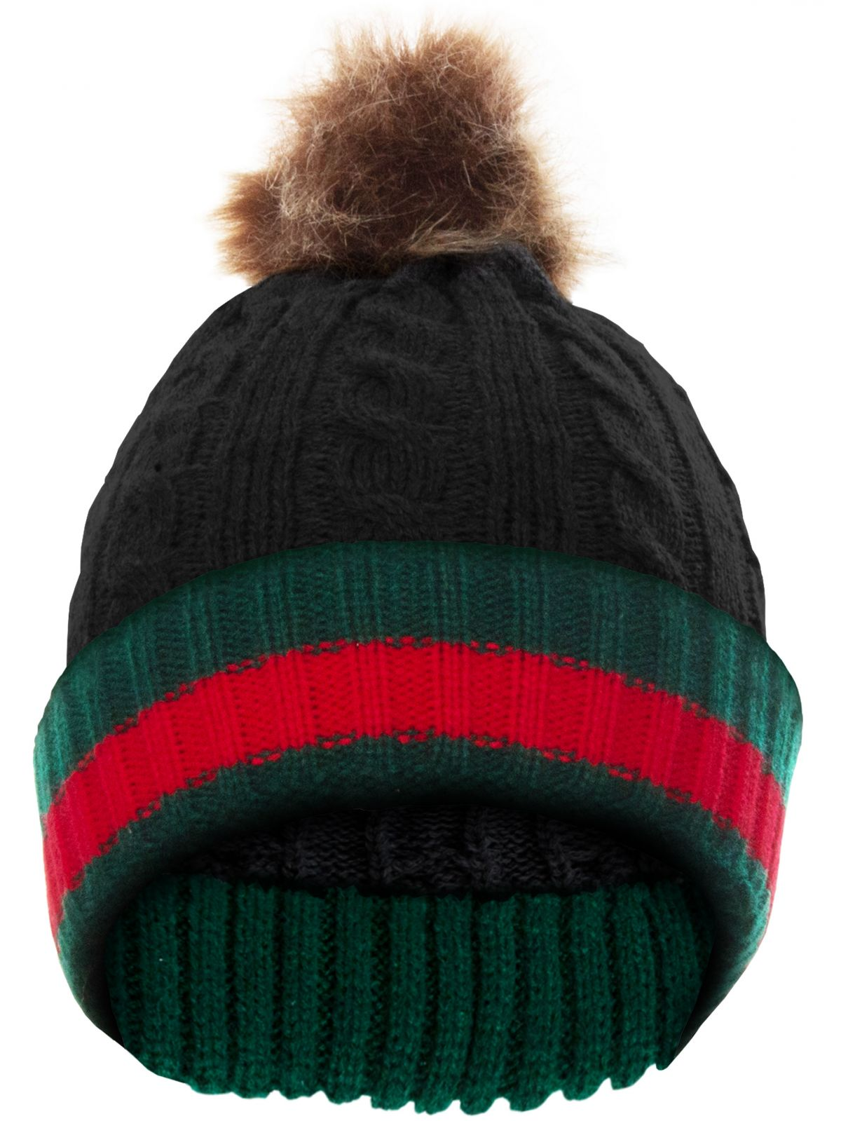 Accessories   Mens Winter Knitted Striped Beanie