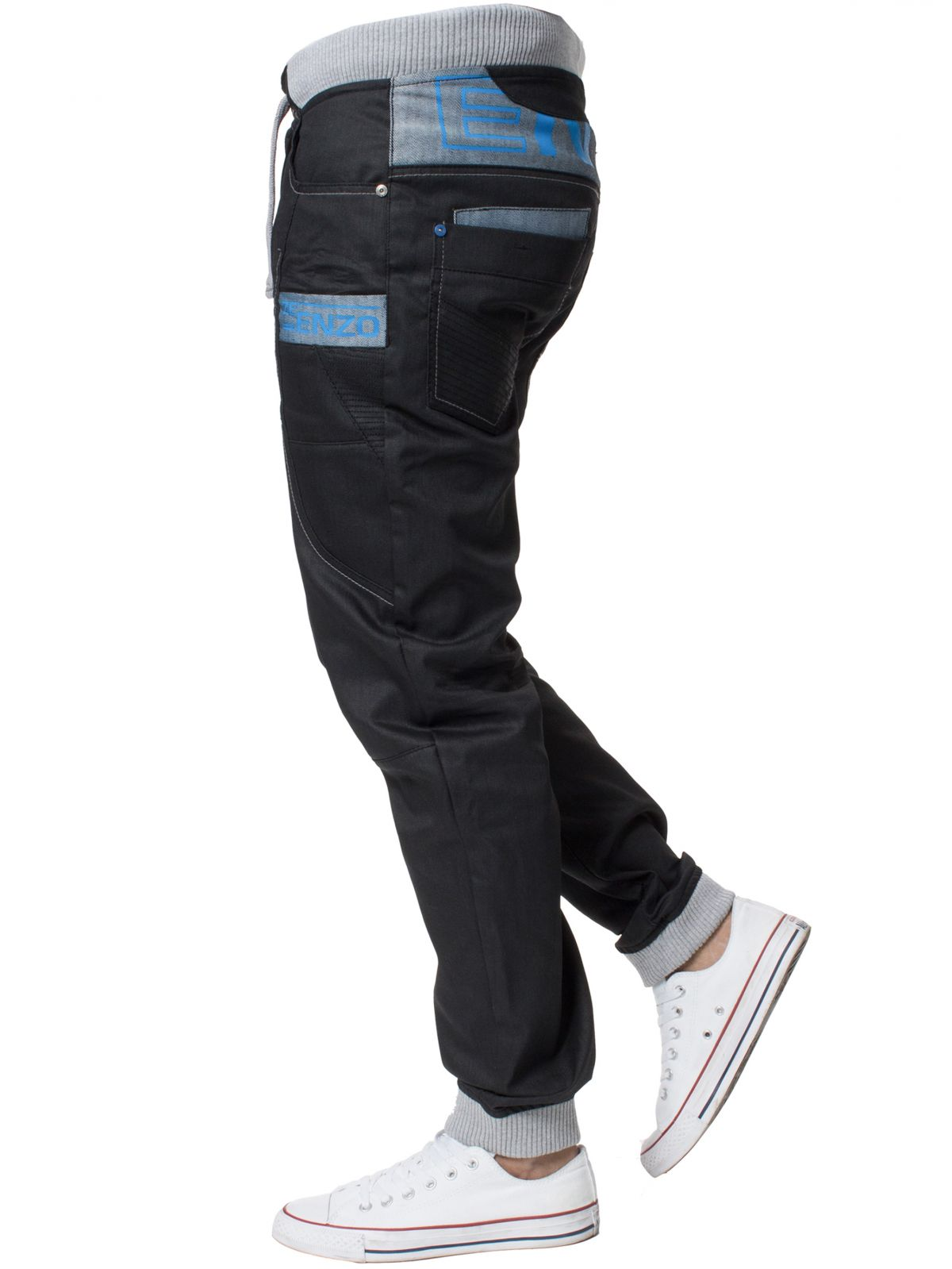 Mens Cuffed Fit Denim Jeans | Enzo Designer Menswear