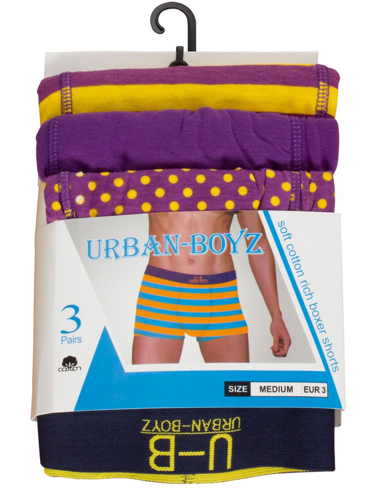Accessories   Mens Cotton Boxer Shorts Assorted 3 & 4 Pack