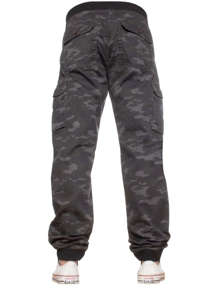 Kruze Mens Military Combat Camouflage Trousers