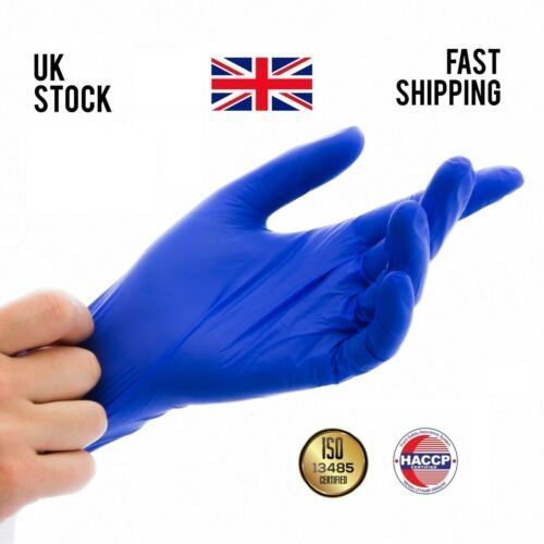 Strong Nitrile Disposable Latex Free Powder Free Medical Grade Blue PPE 100 Pack Gloves