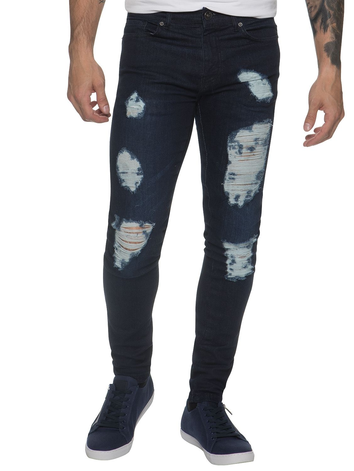 Mens Denim Ripped Denim Jeans lsw | Enzo Designer Menswear