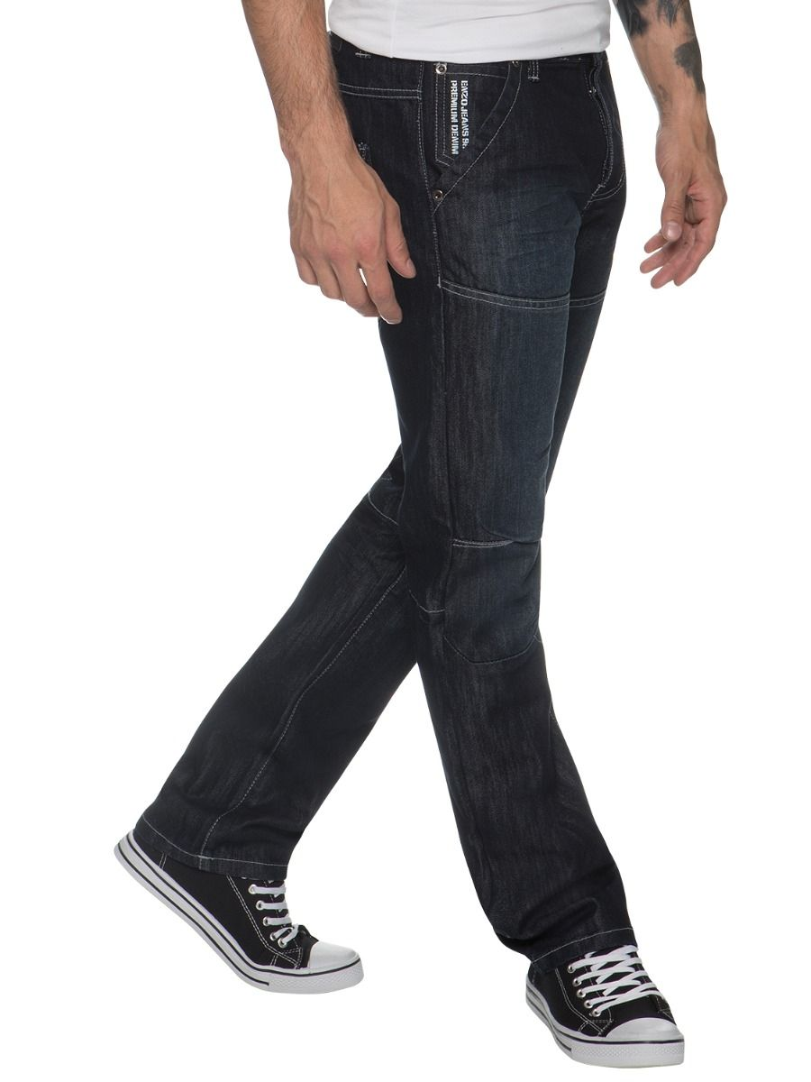 Mens Straight Fit Denim Jeans EZ243 - EZ244 | Enzo Designer Menswear