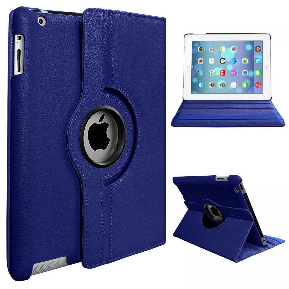 Leather 360 Rotating Smart Case iPad 2/3/4 Cover