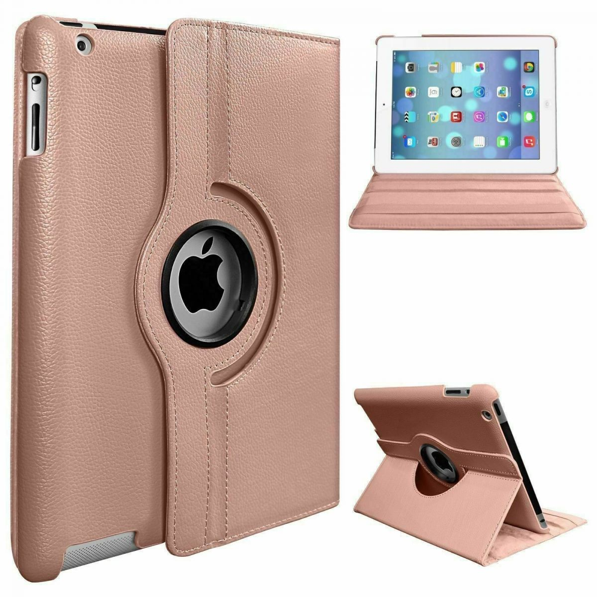 Leather PU 360 Rotating Smart Case iPad Air Cover