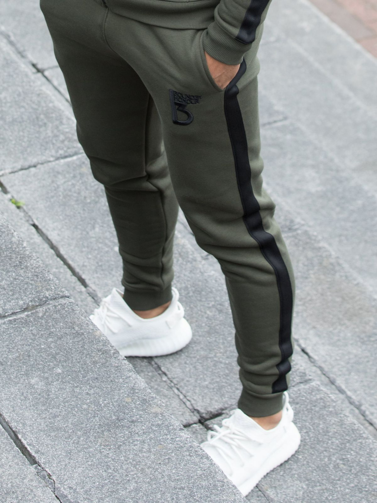 Radiate Tracksuit Bottom With Tape Detail   Bound By Honour
