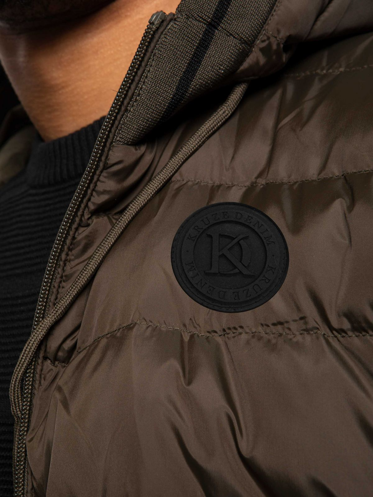 Mens Kruze Clothing Reflect | Quilted Hooded Bubble Puffer Jacket