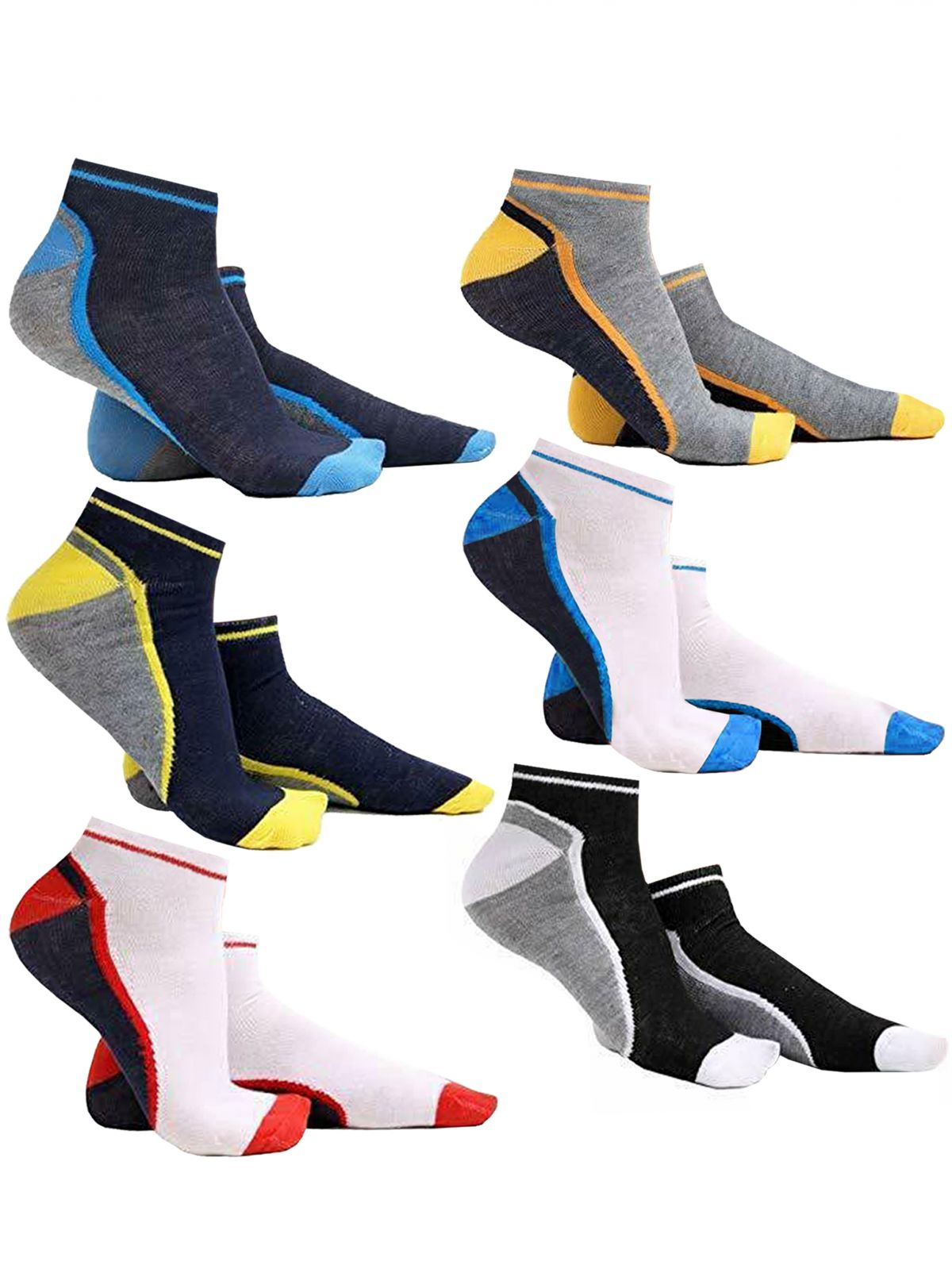 Accessories | Mens Designer Multicolour Ankle Socks, From £3.98, Guest Brand, in Multicolour | Raw Denim Outlet