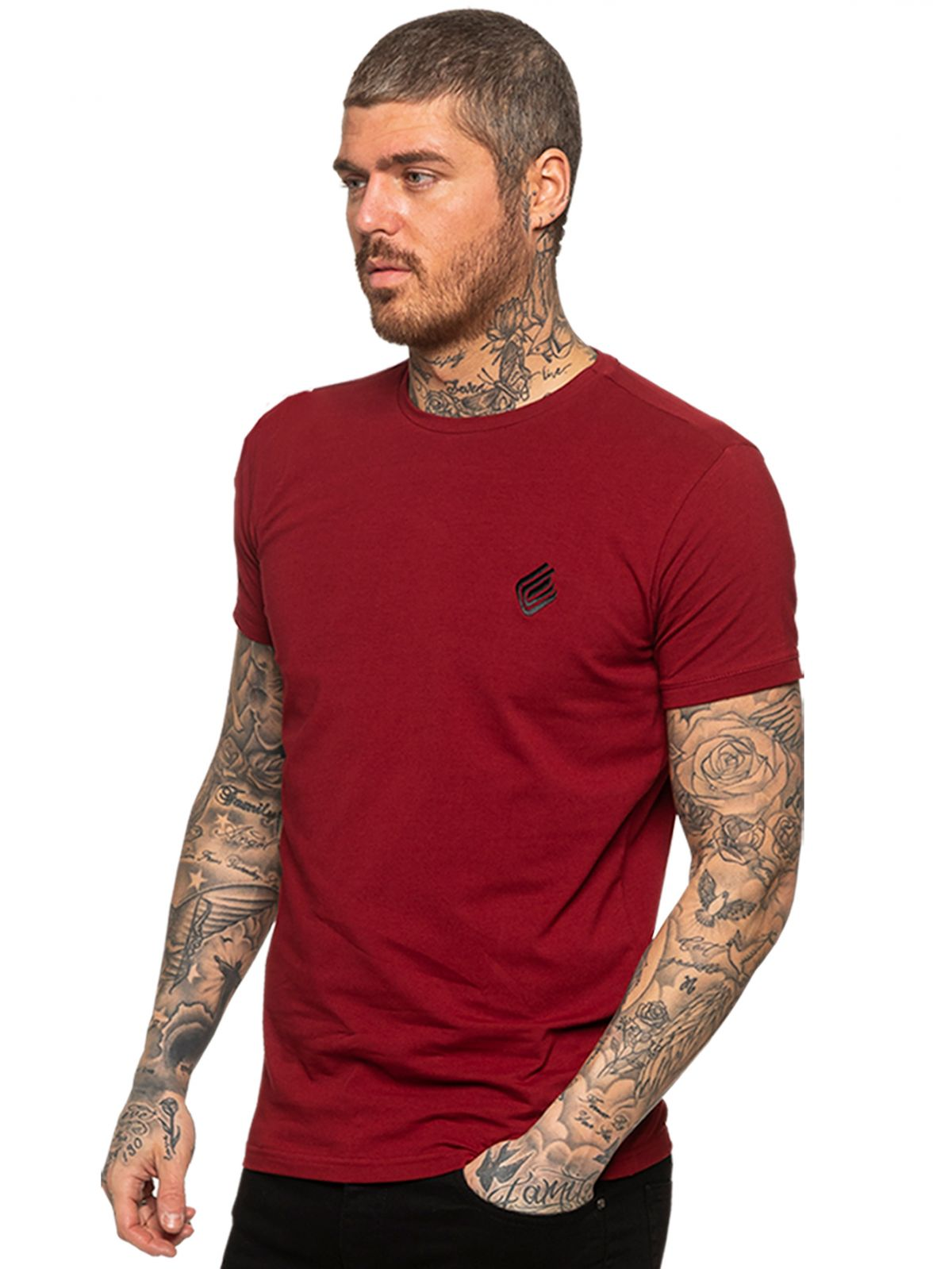 Enzo Mens Slim Fit Stretch Muscle T-Shirt