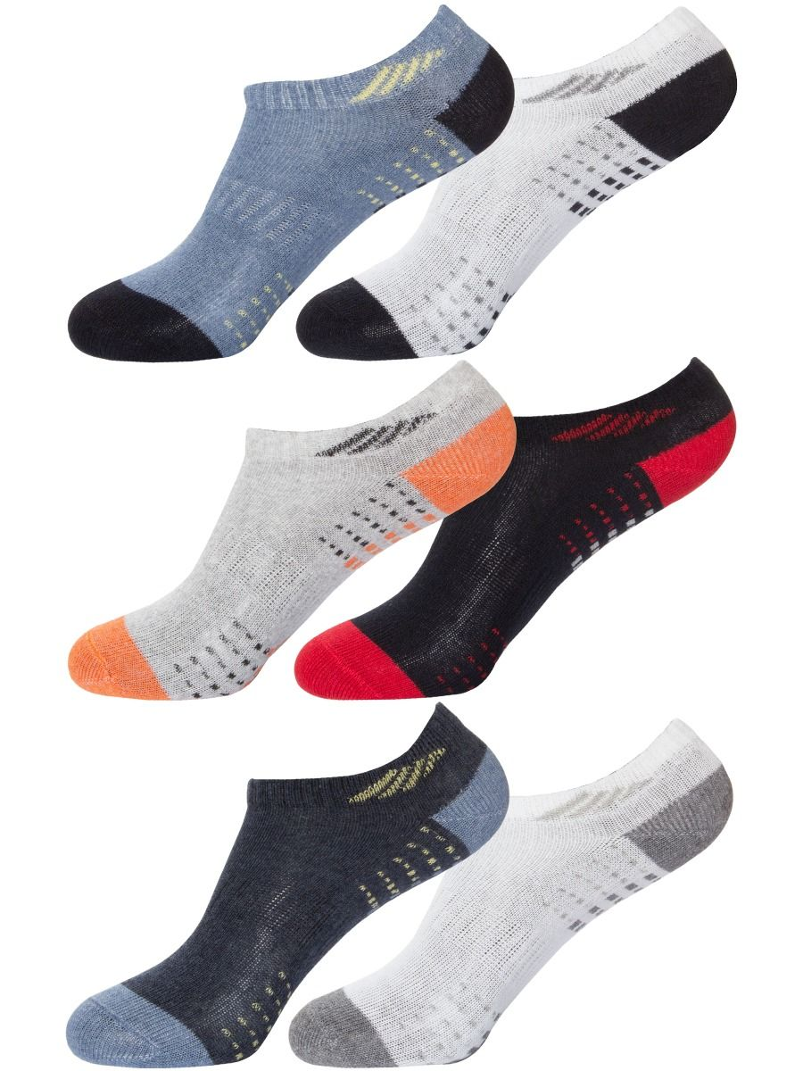 Accessories | Boys Multicoloured Invisible Trainer Ankle Sock 3 & 6 Pack