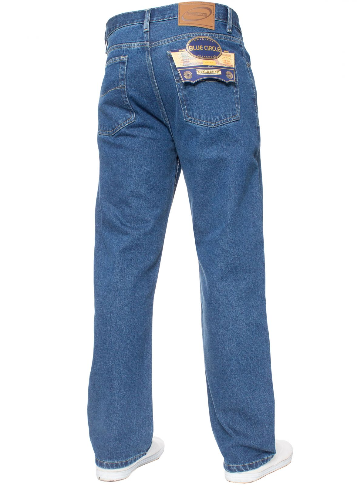 Mens Stone Wash Classic Denim Jeans BCB | Blue Circle Designer Menswear
