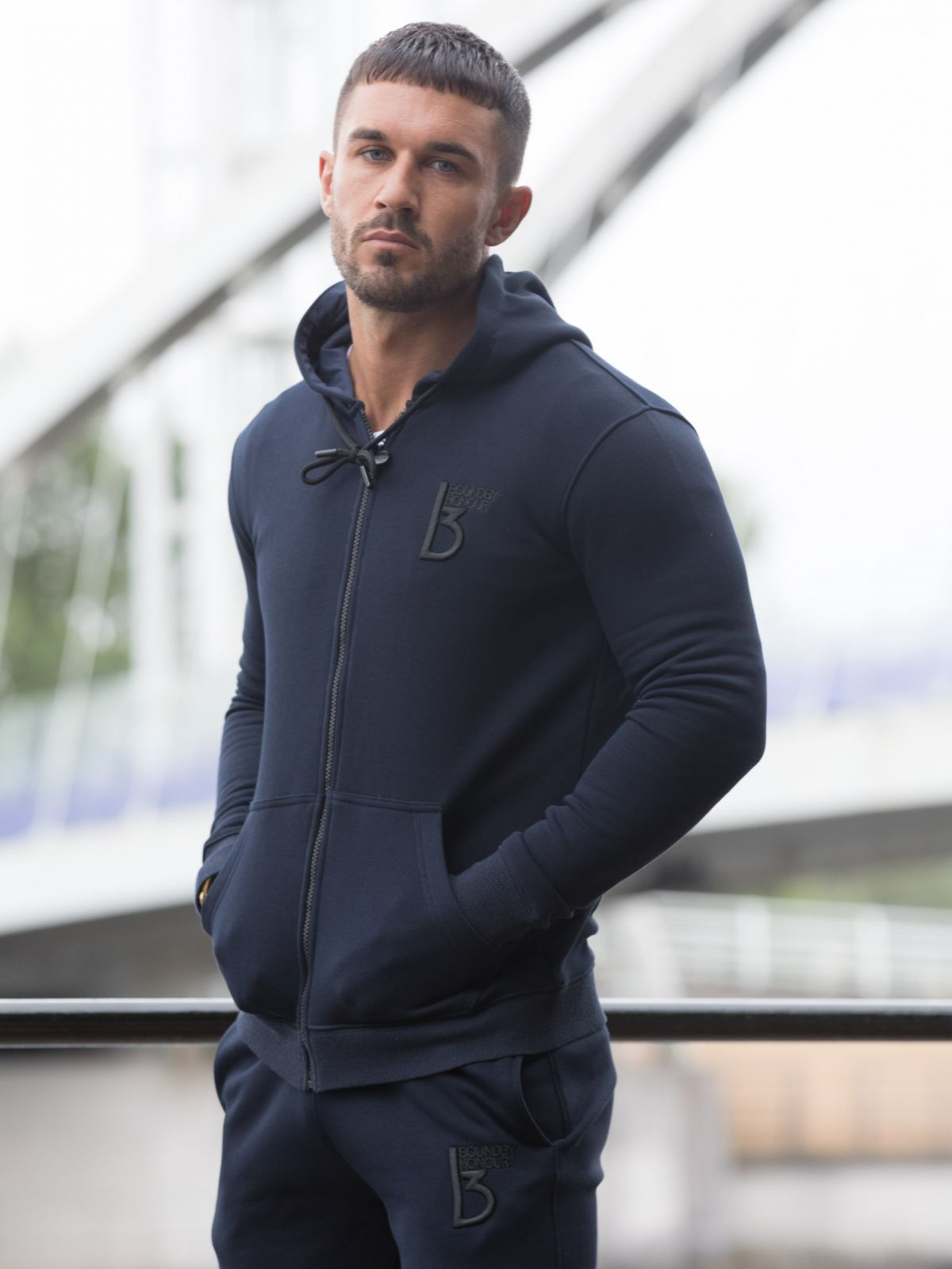 Scale Zipped Tracksuit Hood   Bound By Honour