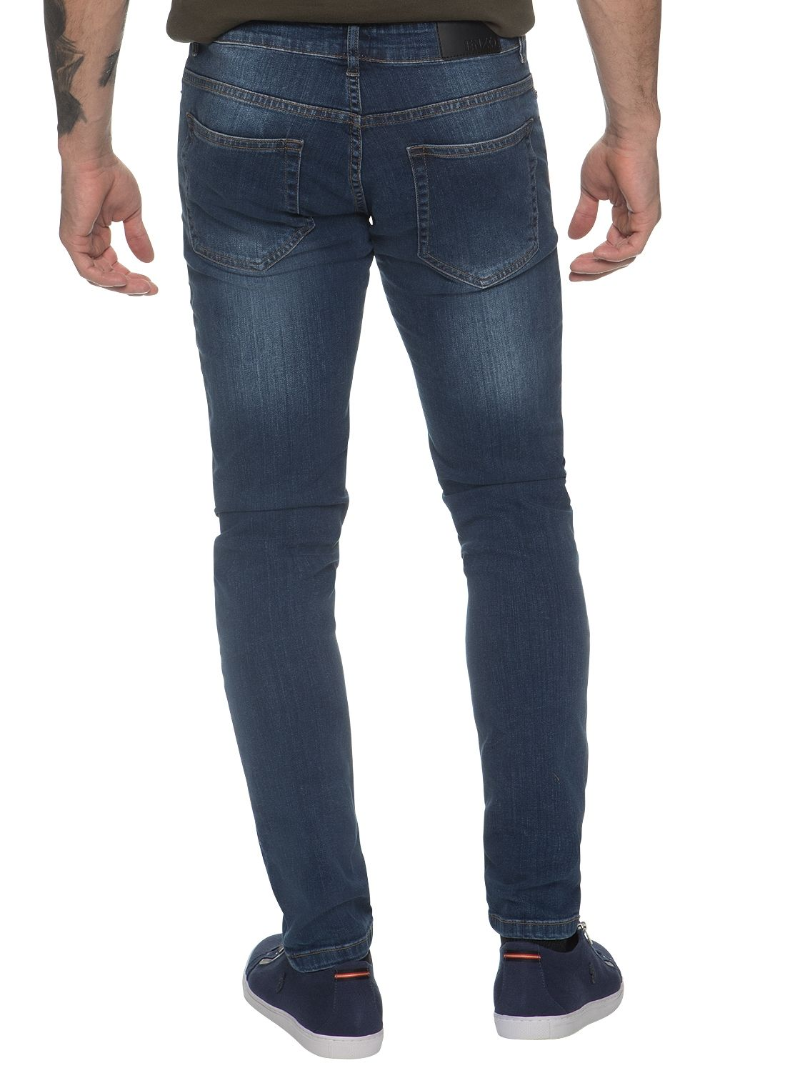 Mens Designer Stretch Skinny Fit Jeans // Enzo Menswear