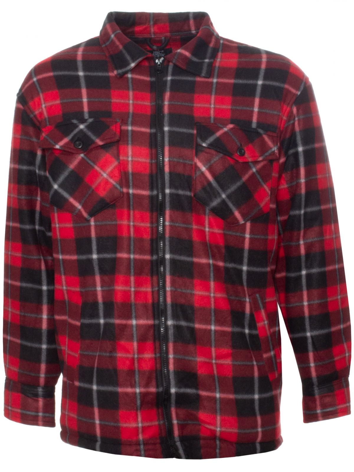 Men's Flannel Faux Fur Lined Thick Fleece Shirt