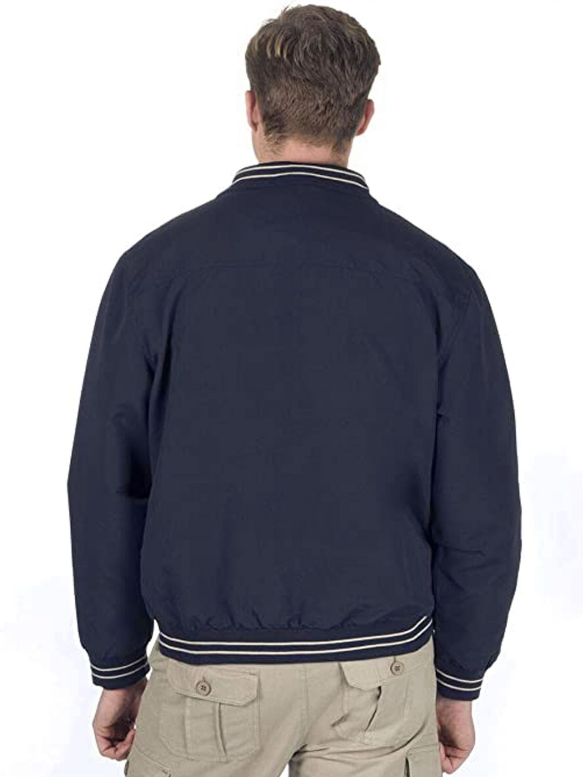 Mens Classic Casual Golf Bomber Jacket