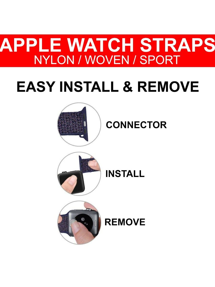 Accessories | Apple Nylon Loop Woven Watch Strap For Series 6 5 4 3 2 1 SE 38-44MM