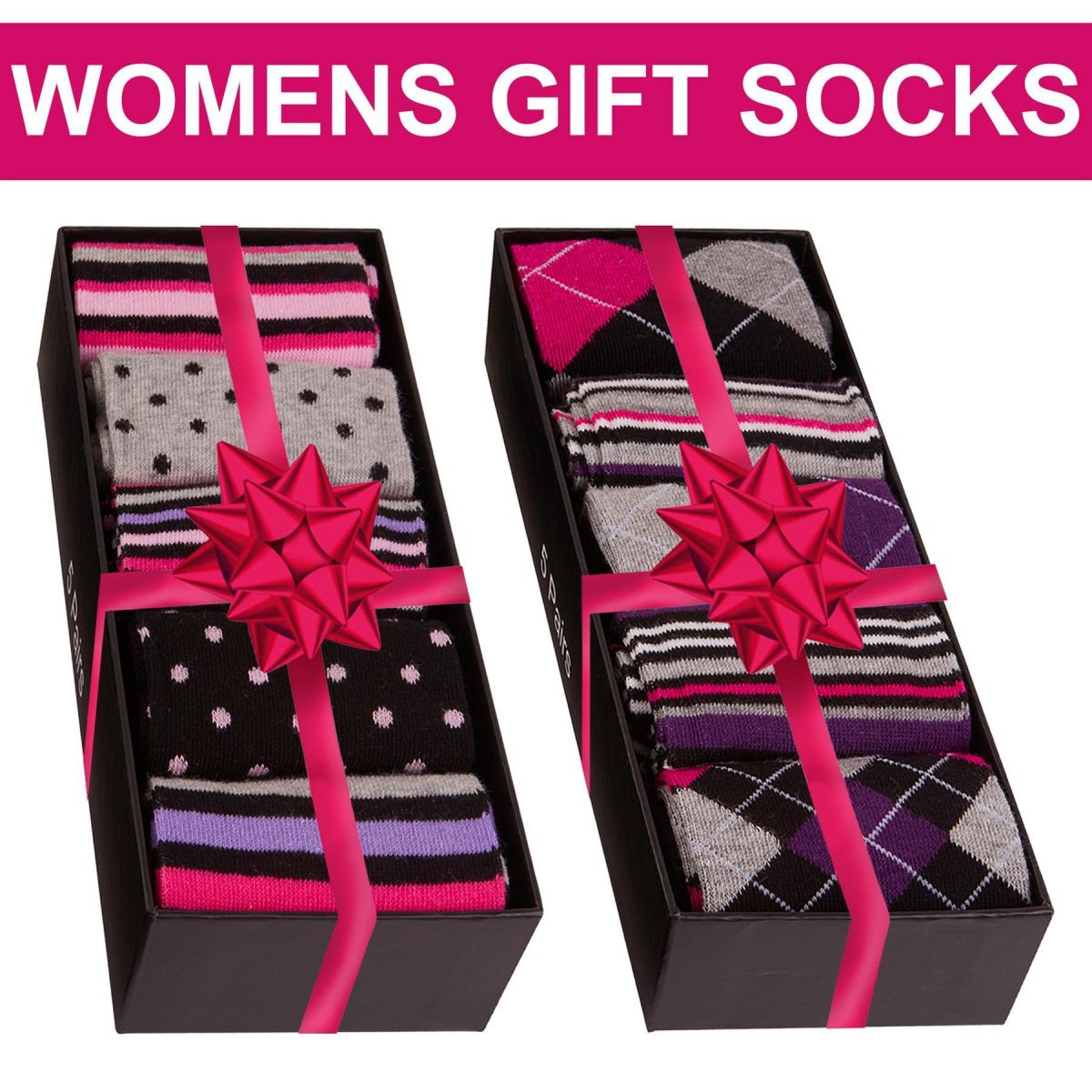 Accessories | Womens Cotton Rich 5 Pack Gift Box Novelty Design Ankle Socks UK 4 -8