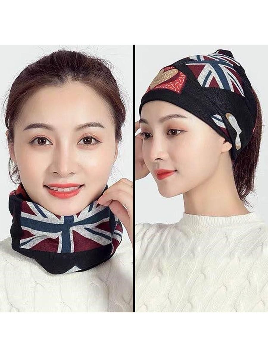 Accessories | Womens Snood Face Covering Mask Multifunction - Ring Neck Scarf Head Band