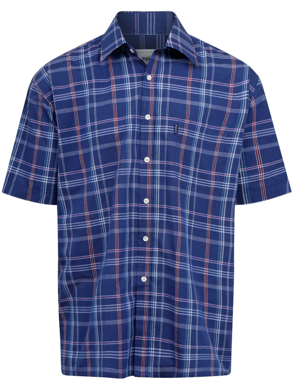 Mens Designer Short Sleeve Checked Shirt
