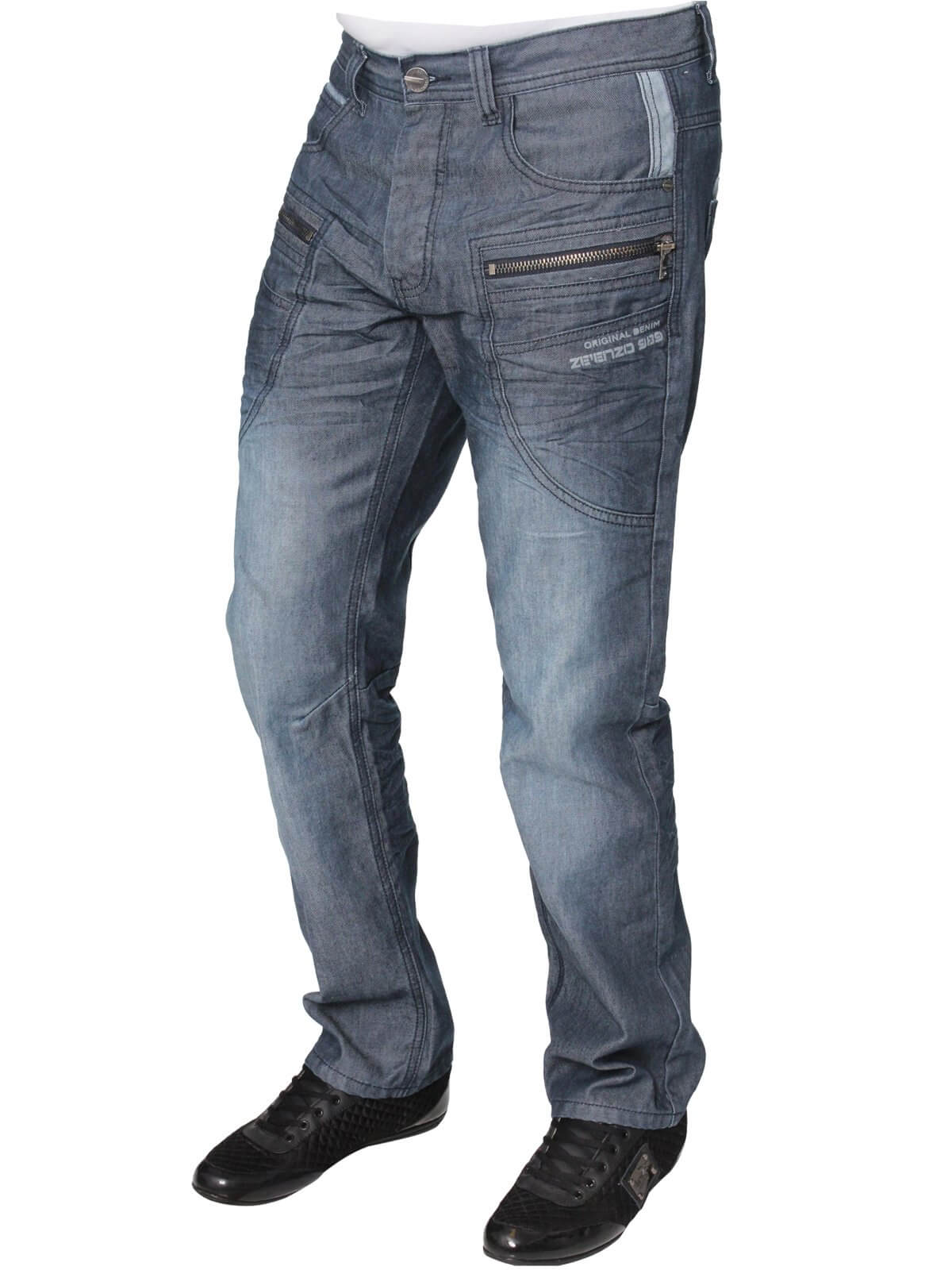 Clearance | Mens Midwash Regular Fit Denim Jeans | Enzo Designer Menswear