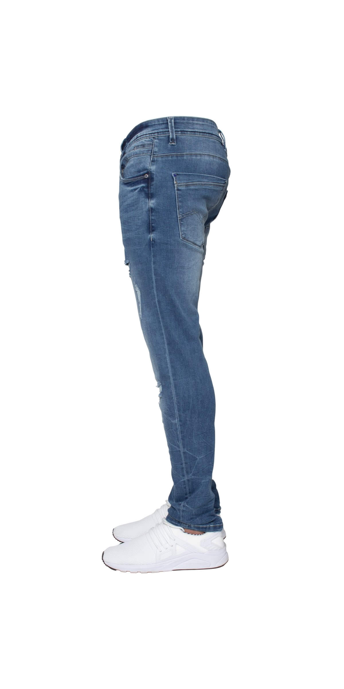 ETO | Mens Designer Hyperstretch Skinny Fit Distressed Jeans