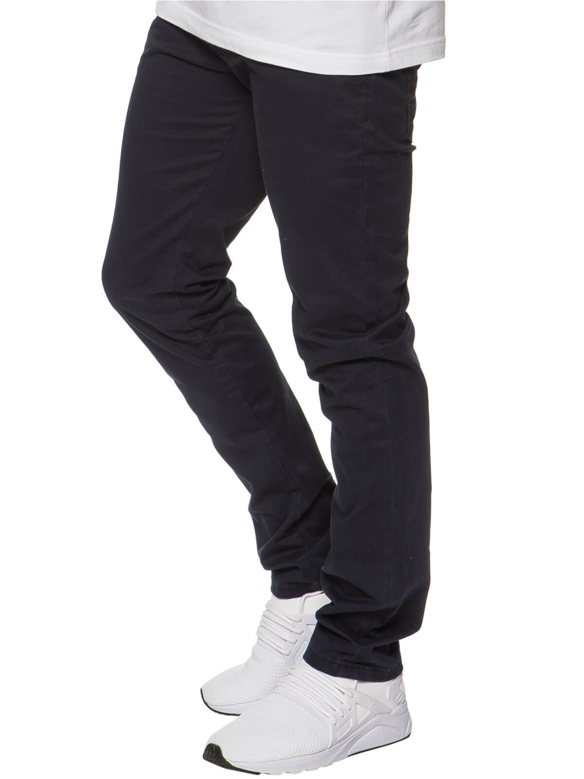 ETO | Mens Designer Navy Regular Tapered Fit Denim Jeans