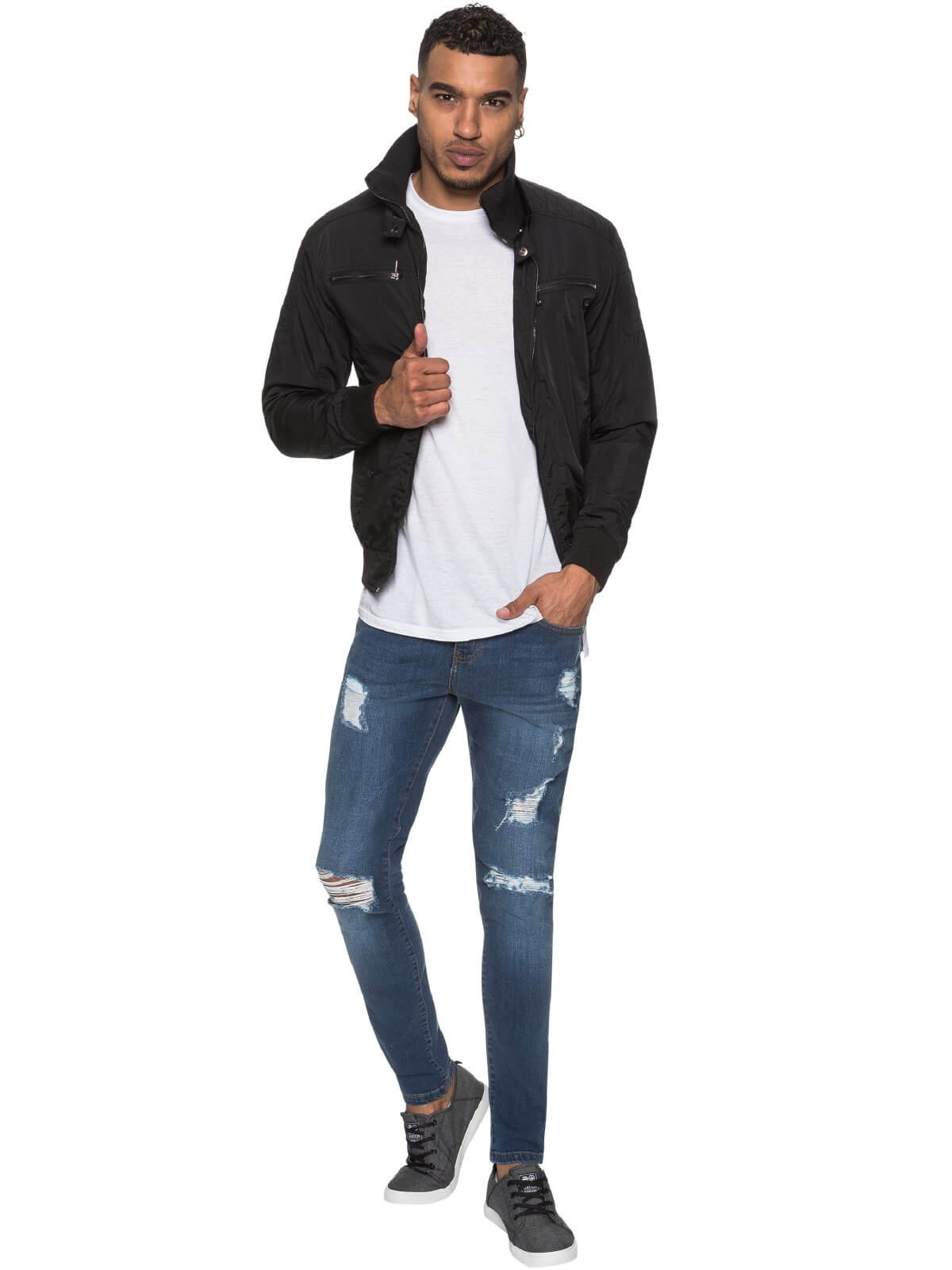 ETO | Men's Designer Black Biker Style Jacket
