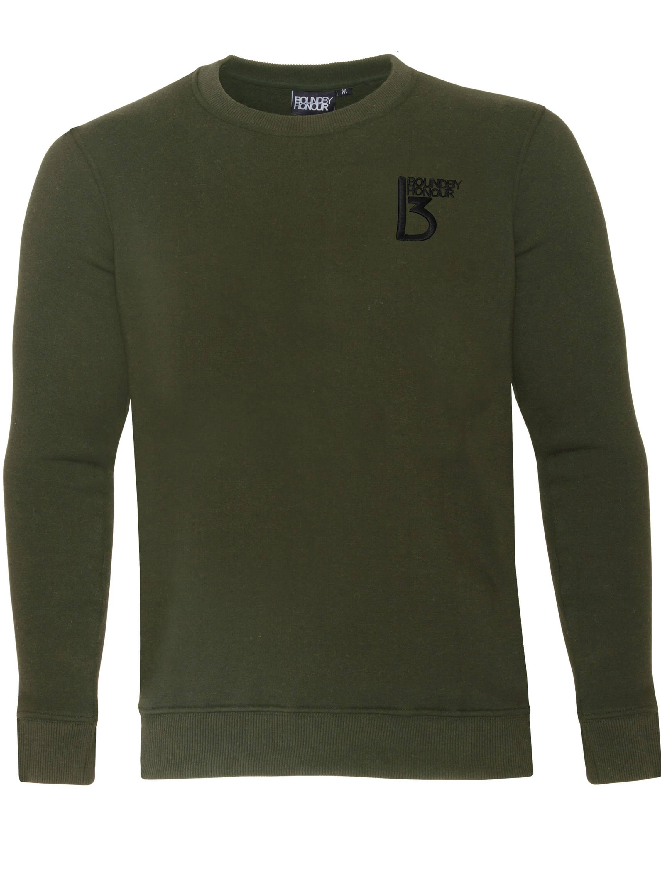 Image of Raw Denim Designer Outlet - BBH Mens Plain Sweatshirt Crew Neck Jersey Fleece Sweater Work Casual Jumper Top Bound By Honour by Bound By Honour for only £13.99 // Raw Denim