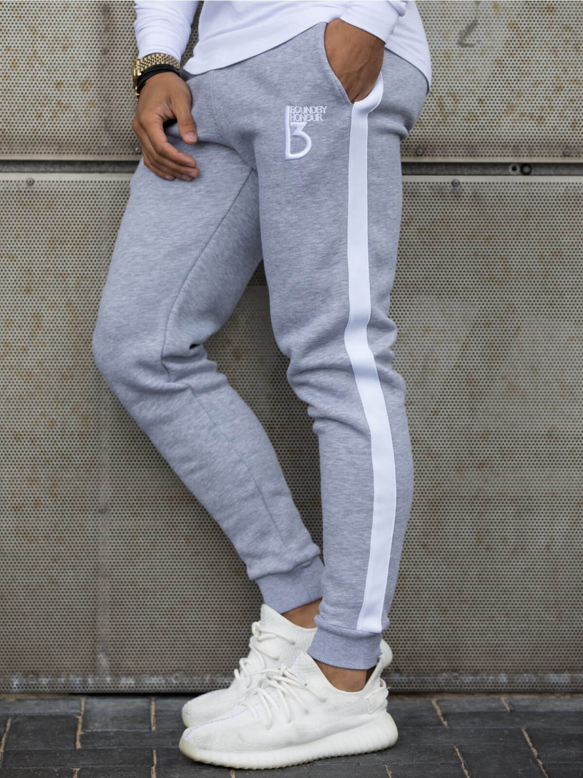 Radiate Tracksuit Bottom With Tape Detail | Bound By Honour