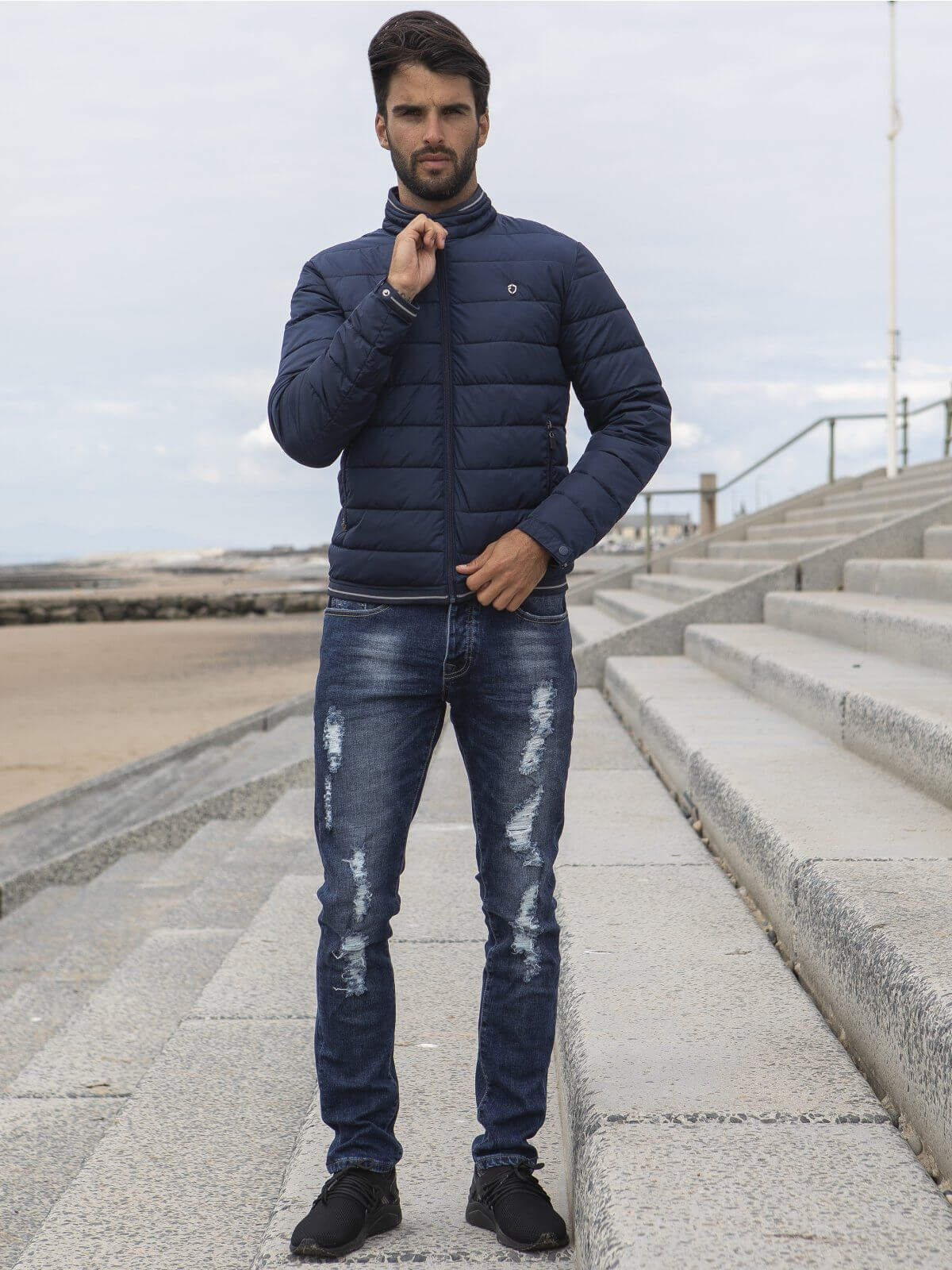 ETO | Designer Men's Navy Zip Jacket Style Encounter