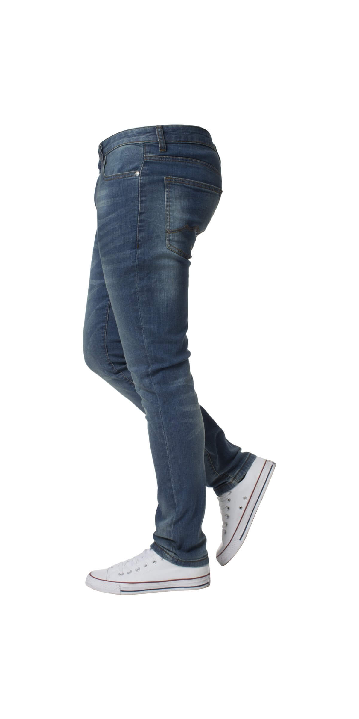 Kruze | Designer Mens Skinny Fit Stretch Denim Jeans