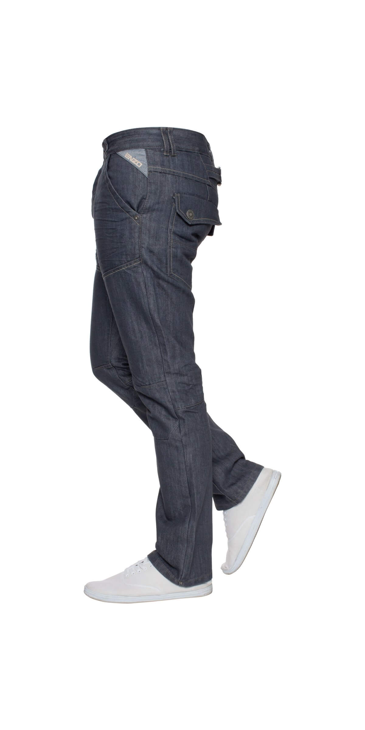 Mens Regular Fit Grey Denim Jeans | Enzo Designer Menswear
